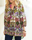 Joanna Hope ETHNIC Paradise Printed Tunic Blouse & Cami CREAM MULTI Size 14 - 30