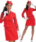 Ladies Sexy Air Stewardess Hostess Fancy Dress Costume Outfit UK 8-26 Plus Size