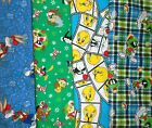 LOONEY TUNES  #5  Fabrics, Sold Individually, Not As a Group, By The Half Yard