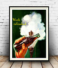 Work Refreshed Coca Cola - Vintage Magazine Ad, Wall art, Poster Reproduction £3.99  on eBay