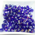 hot100pcs Faceted bicone crystal glass jade  loose Spacer beads 6mm Wholesale