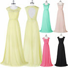 Sexy Long Chiffon Lace Bridesmaid Homecoming Party Cocktail Evening Prom Dress 1