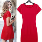 Summer Sexy Red Women's casual Bodycon Evening Party Cocktail Mini Dress XS-L