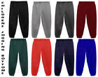 JOGGING BOTTOMS - Kids Warm Fleece Style Plain Joggers Bottom Pants 2 - 15 Years