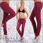 SEXY SKINNY STRETCH JEANS 10 12 14 WOMENS red DENIM HOT PANT
