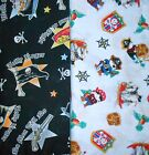Clearance PIRATE Fabrics,Sold Individually,Not As a Group,By The Half Yard