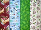 Clearance CHRISTMAS #4 Fabrics,Sold Individually,Not As a Group,By The Half Yard