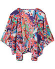 Label Be @ Simply Be RED FEATHER Print Waterfall KIMONO Jacket Szs 12/14 - 32/34
