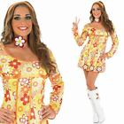 Ladies Hippy Fancy Dress PLUS Accessories - 60s Hippie Swinging Sixties Outfit