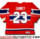 BOB GAINEY MONTREAL CANADIENS 1974 JERSEY CCM VINTAGE RED