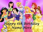 Disney Princess personalised edible icing cake topper with loot bags + balloons