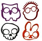 EGG RING MOLD Mould Shaper Cooking Owl Frying Skull Rabbit Sun Silicone Pancake