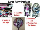 Monster High Loot bags and foil balloons. The start to your DIY party package