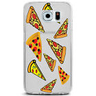 TPU Case for Galaxy S6 - Pizza Slices Pattern