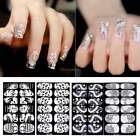 6 Sheets 3D Nail Art Tips Stickers Decal Full Wraps Decoration DIY Flower ItS7