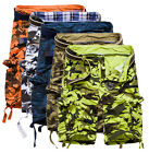 NWT Men Casual Army Cargo Combat Camo Camouflage Overall Shorts Sports Pants