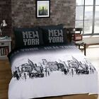 Duvet Cover Bedding Set With Pair Of Pillow Case Single Double King S-King Size
