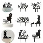 Acrylic Mr&Mrs Wedding Cake Topper Bride & Groom Party Favors Decoration