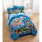 """NEW DISNEY TOY STORY """"TOYS TO THE RESCUE"""" 7 PC FULL BED SET W/ WOODY PILLOW PAL"""