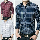 ZC6264 New Mens Casual Luxury Stylish Slim Fit Long Sleeves Shirts US XS-XXL
