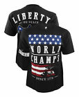 Metal Mulisha USA World Champs Black T-Shirt Medium Large XL XXL War