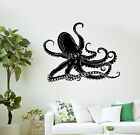 metal bathroom wall art - Wall Decal Octopus Kraken Marine Animals Bathroom Art Vinyl Stickers (ig3005)