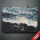 OCEAN SEA VIEW NATURE PHOTOGRAPHY POSTER A3 A4 * ABSTRACT RETRO HOME WALL ART