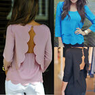 New Fashion Women Chiffon Long Sleeve Loose Tops Blouse Summer Casual Shirt