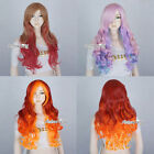 Multi-Coloured 60-75cm Halloween Long Curly Women Anime Lolita Cosplay Wig+Cap