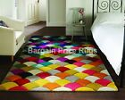 Spectrum Jive Machine Carved Multi Coloured Rug in various sizes
