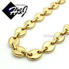 """18-40""""MEN Stainless Steel 10mm Gold Puffed Gucci Link Chain Necklace*GN139"""