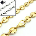 """18-40""""MEN Stainless Steel 10mm Gold/Silver Puffed Gucci Link Chain Necklace*N139"""