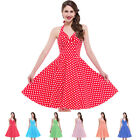 1950's 1960's Halter Retro Vintage Sexy Housewife Rockabilly Polka Dots Dresses