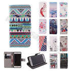 Tough Tuff Wallet Card PU Leather Flip Stand Case Cover Rubber Skin F Cellphones
