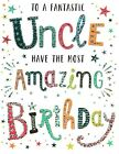 open uncle happy birthday card - 3 x cards to choose from!
