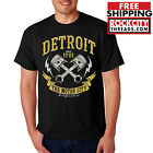 DETROIT MOTOR CITY MUSCLE T-SHIRT Motown Shirt Tigers Tshirt Red Wings Made In