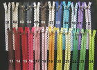 "*New Design* DECORATIVE LACE zip (zipper) - 20cm (8"") - metal teeth - 24 colours"