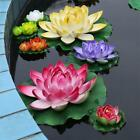 6.7 inches Artificial Flowers Silk Water Lily Lotus Pond Fish Tank Decor 2PCS