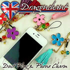 Anti Dust Plug with Flower Charm for 3.5mm Earphone Jack iPhone iPad Mobile
