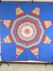 Vintage Antique Handmade Quilt Lone Star Patchwork Quilt 19th Century Texas Patr