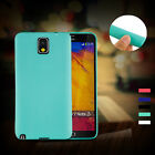 Candy Color Silicone matte soft Back case cover for Samsung Galaxy Note 3 4 5
