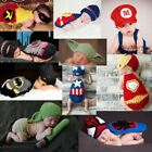 Superhero Newborn Baby Boy Girl Handmade Crochet Knit Photo Prop Halloween Costu