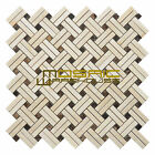"""Marble Mosaic Tile, """"Knot Collection"""" MM 7203 - Patch, Strips and Dots, Polished"""