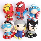 Lots Movies Hero Captain America Spiderman Cell Phone Charm Strap Baby Plush Toy