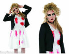 Dead Rock Chic Chucky's Bride Zombie Halloween Fancy Dress All Sizes