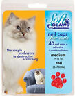 Soft Claws Nail Caps for Cats Kittens Paws, Small, Medium &amp; Large, Choose Color  <br/> USA Made Smart Practice - 40 Nail Caps, 2 Glues, 6 Tips