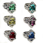 Stainless Steel Fashion Women Silver Punk Skull Ring Fashion Jewelry Size 10
