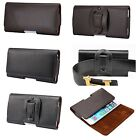 Genuine Real Leather Horizonal Style Belt Clip Pouch Case for iPhone 6S/6S Plus