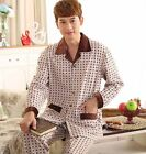 Cotton 2PCs Men's Long Sleeves Sleeping Wear/ Howe Clothes Pajama L/XL/2XL/3XL