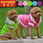 PETSOO Dog Coat Fahion Plain Winter Puppy Clothes with Detachable Hat Hoodies